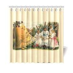 Happy Easter Vintage German Bunny Chorus Shower Curtain 69 Holiday Shower Curtains, Happy Easter, German, New Homes, Bunny, Prints, Vintage, House, Happy Easter Day