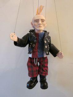 Punk Rocker String Puppet