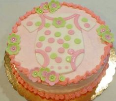 Baby shower cake By: Cheryl's Home Kitchen. Find us on FaceBook!