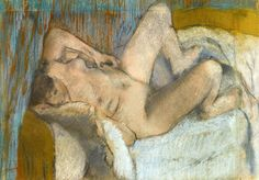 Degas: Femme nue couchée Pastel and charcoal over monotype on paper. 30,9 x 43,9 cm. Private collection.
