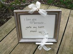 I love you because... frame
