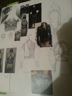 Fashion Sketchbook - fashion design drawings and development // Svitlana Andriyets