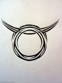 Download Tribal Zodiac Taurus By Magpievon On Deviantart  Free Download Tattoo in many sizes.