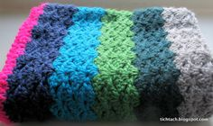 #Crochet #Cowl in Offset Shell #stitch - made by #tichtach