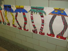 Dancin elves, - I wish I could do Christmas stuff again. This looks like so much fun. Christmas Art Projects, Winter Art Projects, Christmas Crafts For Kids, Holiday Crafts, Classroom Art Projects, School Art Projects, Art Classroom, 3rd Grade Art Lesson, Grade 3