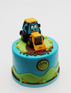 cake with dredger
