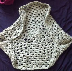 Easy Free crochet circle shrug pattern