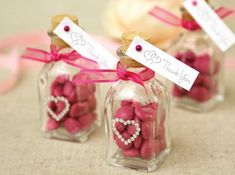 idea for heart theme wedding favors