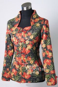 Oriental Chinese Floral Evening Party Jacket Blouse TL63