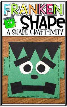 FrankenSHAPE: A Shape Craftivity! Students create a FUN Frankenstein craft to represent various shapes! Great math activity for October and Halloween! Fall Preschool, Kindergarten Crafts, Classroom Crafts, October Preschool Crafts, Kindergarten Goals, Classroom Activities, Classroom Ideas, Halloween Math, Halloween Crafts For Kids