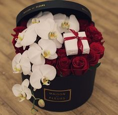 rose and orchid flower box