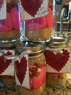 Valentine S'mores in a Jar