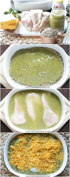 Easy + Healthy + Delicious = BEST DINNER EVER. Salsa Verde Chicken Bake Recipe…