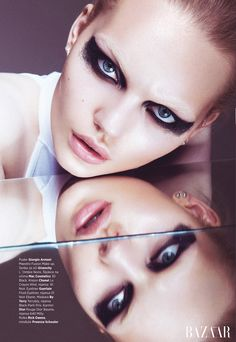 Marlen Nohl for Bazaar Serbia by Christoph Klutsch   (Makeup by Christian Schild)