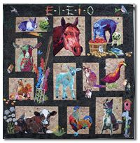 Bonnie Keller Quilts - Gallery - Portrait Quilts  'Ms MacDonald Had a Farm'  group quilt   www.bonniekellerquilts.net