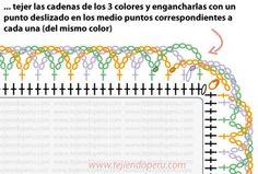 10/10 Tutorial: borde espiralado en 3 colores en crochet