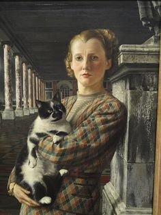 Albert Carel Willink (1900-1983) : Wilma with a Cat, 1940. Museum Arnhem, Netherlands.