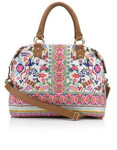 Can Can Folk Weekender Bag @ $69.00 // Accessorize.com