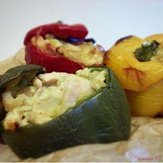 Estupendos 40: Pimientos rellenos de pollo al curry
