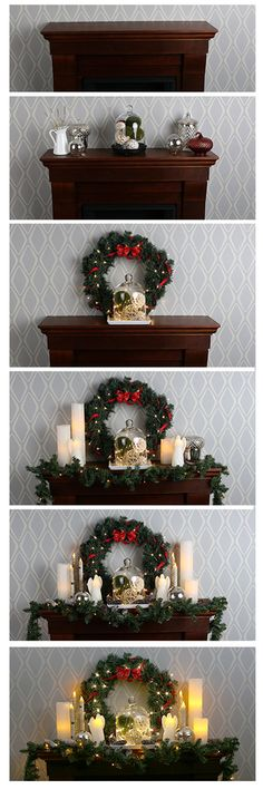 We transformed a regular fireplace mantel into something special. Happy Holidays :-)