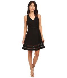 Adelyn Rae Sleeveless Ponte Knit Fit and Flare Dress