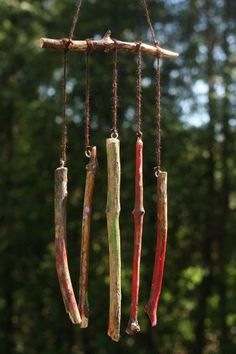homemade natural wind chimes. Even the youngest can be successful