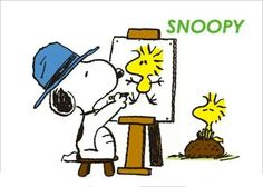 Snoopy the artist!