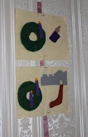 Between godly play advent cards, the Jesse tree, an advent wreath and a traditional lift the flap advent calendar (bought in Switzerland be...