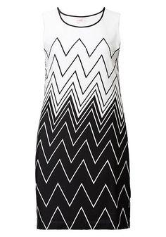 sheego Style Kleid – schwarz-weiß