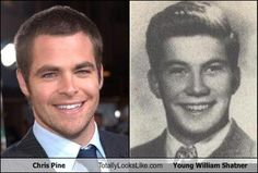 For those of you saying that Chris Pine and William Shatner have no resemblance...