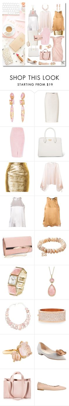 """""""i am very busy"""" by sensual-spirit ❤ liked on Polyvore featuring Donna Karan, River Island, Prada, Yves Saint Laurent, Chloé, Galvan, Catherine Quin, New Look, Vince Camuto and Poppy Jewellery"""
