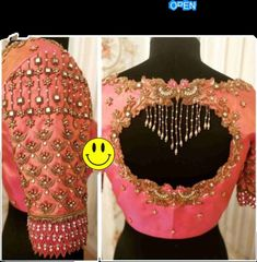 Indian Blouse Designs, Blouse Back Neck Designs, Traditional Blouse Designs, Blouse Designs Catalogue, Wedding Saree Blouse Designs, Hand Work Blouse Design, Stylish Blouse Design, Fancy Blouse Designs, Aari Work Blouse