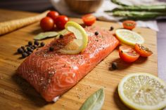 Free Image: Preparing Salmon Steak Close Up | Download more on picjumbo.com!