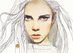 Your Porcelain Doll aka Ukrainian artist Nadiia Cherkasova - Digital Portraits inspiration