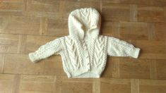 Handmade Cable Knit Sweater Child Buttons Up Cream Cardigan Kids Chunky Knit Sweater With Hood Vintage Chevron Knit Sweater 2 years old – chunky knitting sweaters Cream Cardigan, Chunky Knit Cardigan, Cable Knit Sweaters, Vintage Vans, Vintage Outfits, Vintage Clothing, Chevron, Chunky Knitwear, Recycled Yarn