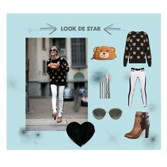 LOOK DE STAR by cassandree on Polyvore featuring mode, Moschino, ALDO, Oscar de la Renta and By Terry