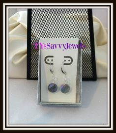 Swarovski Crystal Blue Rainbow Earrings by TYsSavvyJewels on Etsy