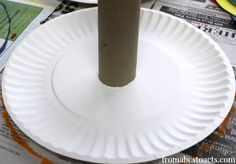 paper plate ring toss game for preschool circus theme