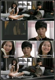 My Girlfriend is a Gumiho...haha I think its funnier because of what she's eating. LOL  Great show not to mention No Min Woo is in it.