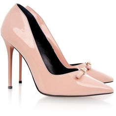 Raoul Patent Pink Pointed Stiletto (7,705 PHP) ❤ liked on Polyvore featuring shoes, pumps, pink, patent leather shoes, high heel stilettos, pink pointed toe pumps, stiletto pumps and pink stilettos