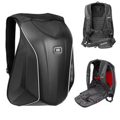 "OGIO ""no drag"" Mach-5 motorcycling rucksack in Stealth black"