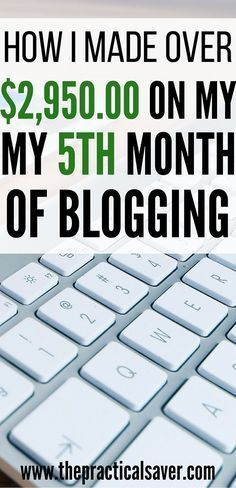 How I Made Over $2,950.00 On My 5th Month Of Blogging