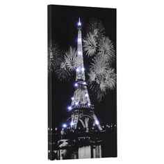 LED-canvas-picture-wall-lamp-wall-lamp-decorative-Paris-Eiffel-Tower-Lights-New 18,95€
