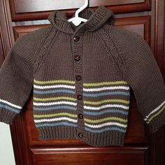 Ravelry: Mock cable and stripes baby cardigan pattern by Raluca Horhat