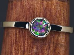 Mystic Topaz Sterling Stacking Ring