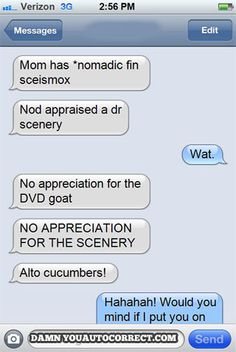 The Funniest Autocorrects Of The Month: August 2013 (PHOTOS)