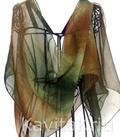 Life. Green silk scarf. Colorful scarf. Multicolor by KavitaKriti, $35.00  https://www.etsy.com/listing/159177282/life-green-silk-scarf-colorful-scarf?ref=shop_home_active
