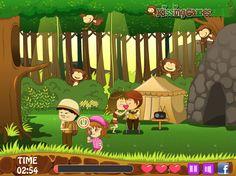 Jungle Kissing - Kiss Games Online - Dressup24h Kissing Games, Games For Girls, Online Games, Kids, Character, Young Children, Boys, Children, Boy Babies