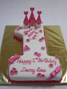 number one princess cakes Number Birthday Cakes, Baby Birthday Cakes, Girl First Birthday, Birthday Ideas, Princess Birthday, Number One Cake, Number Cakes, Birth Cakes, Puppy Cake