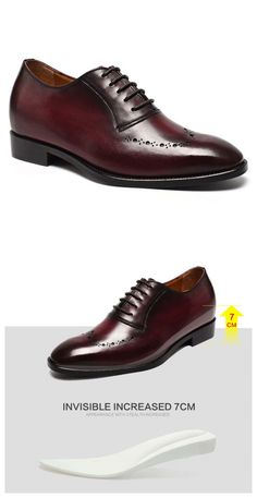 Customized New Style Handmade Elevator Height Increasing Shoes  Height Increase: +7CM/2.76 Inch  Custom-made:7-15 days  Upper Material: Calfskin Leather  Lining Material: Calfskin Leather  Occasion: Office,Business,Wedding,Party  Color Selection:Claret-red  Style: Dress  Season:Spring,Summer,Autumn,Winter  Wholesale: YES  Custom: YES  Shipping: DHL